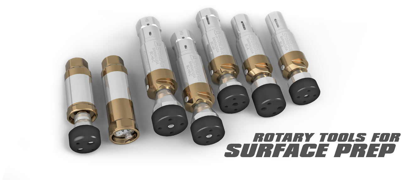 Rotary tools for surface prep